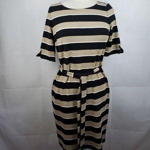 Banana Republic Brown and Black Dress Size S